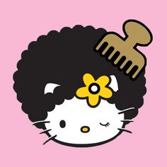 Hello Kitty with a natural! #twa #afro #naturalista