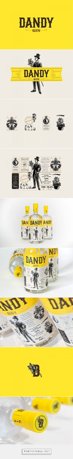 Dandy Gin packaging design by Polygraphe - http://www.packagingoftheworld.com/2017/11/dandy-gin.html