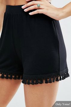 The perfect black shorts to take you from day to night.