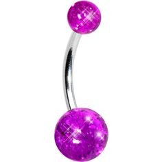 Grape ICE Glitter Banana Belly Ring | Body Candy Body Jewelry