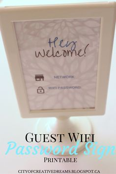 Guest Wifi Sign Printable http://cityofcreativedreams.blogspot.ca/2015/09/guest-wifi-sign-printable.html