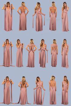 Dresses Clarita Maxi Dress Mauve is part of Wrap dress bridesmaid - Infinity Dress Ways To Wear, Infinity Dress Styles, Multiway Bridesmaid Dress, Infinity Dress Bridesmaid, Infinity Dress Tutorial, Vestido Convertible, Multi Way Dress, Mauve Dress, Dress Tutorials