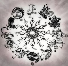 Zodiac+Wheel+With+Sign+Aries+Tattoo+Design+Kamistad+Celebrity