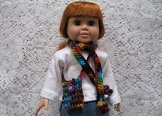 18 Inch Doll Crocheted Purse and Skinny Scarf by TimeForCrochet, $6.00