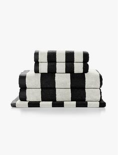 Stripes Black Towels by Aura