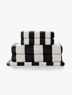 Stripes Black Towels by Aura | FRANKIE + COCO
