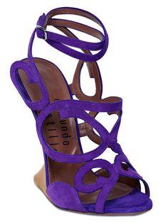 Edmundo Castillo 120MM Iridescent Suede Wedged Sandals