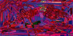 Andrea Mora title: Redsun-Panorama (Version 2013) original size: 200 x 100 cm digital painting