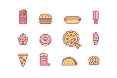 https://www.behance.net/gallery/26197077/Junk-food-icons