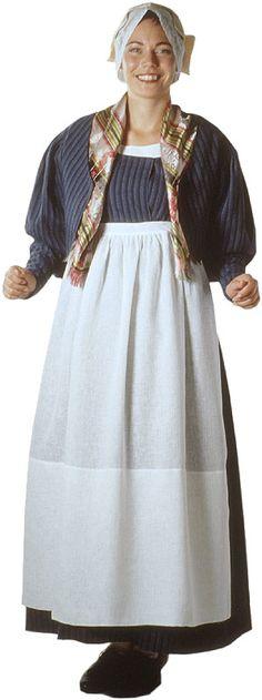 Kalajokilaakson naisen kansallispuku. Kuva © Suomen kansallispukuneuvosto, Ulla Paakkunainen 1999 Folk Costume, Costumes, Turban Hijab, Different Patterns, Historical Clothing, Traditional Dresses, Folklore, How To Wear, Outfits