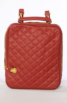 The Donata Quilted Backpack in Burgundy (Exclusive) by Nila Anthony