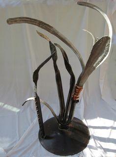 "Metal Sculpture ""3 Hungry Birds"""