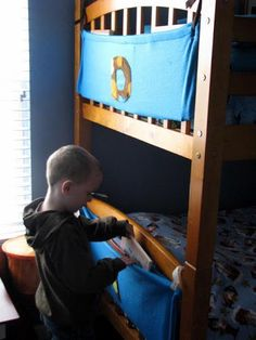 Children's Bed Book Storage ~ Sewing Tutorial (she:Brandy) - Or so she says...