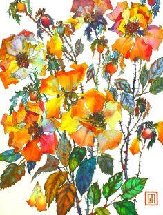 Autum Roses. Art by Sofía Perina Miller