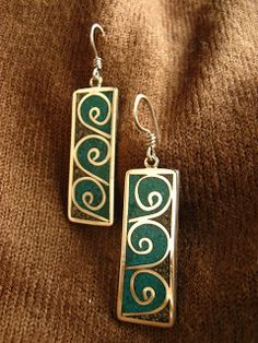 Silver Earrings with Reconstituted Pyrite with Amasonite Aluminum Wire Jewelry, Enamel Jewelry, Resin Jewelry, Wire Wrapped Jewelry, Pendant Jewelry, American Indian Jewelry, Ancient Jewelry, Girls Jewelry, Clay Beads