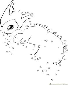 Sweet Water Pokemon Connect Dots - Printable Coloring Pages Cupcake Coloring Pages, Santa Coloring Pages, Dog Coloring Page, Pokemon Coloring Pages, Animal Coloring Pages, Coloring Pages To Print, Colouring Pages, Printable Coloring Pages, Dot To Dot Printables
