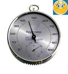 """Lab or Classroom #Hygrometer / #Thermometer is ideal for classroom, lab or industrial use. Large, clear, 20 ~ 100% RH scale on 4"""" dial. Easily read from a distanc..."""