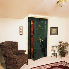 Vault Door - Safes - traditional - basement - miami - Liberty Safes USA #homesecurityguns