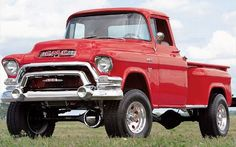 1955 GMC NAPCO 4x4. Gotta be the most bad ass truck I've ever seen.: