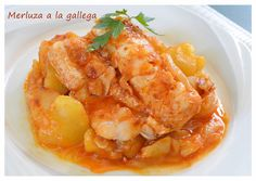 Foto principal de Merluza a la gallega ( Thermomix ) Chilean Recipes, Chilean Food, Spanish Cuisine, Puerto Rican Recipes, Savoury Dishes, Fish And Seafood, Other Recipes, Curry, Food And Drink