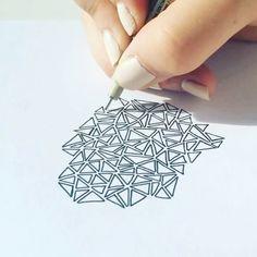 How to doodle - video Note Doodles, Bujo Doodles, Zentangle, Notes, Instagram Repost, Artwork, Report Cards, Work Of Art, Zentangle Patterns