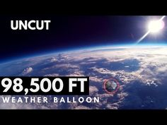 The full uncut flight of our high altitude balloon / weather balloon, which traveled to an altitude of ft. Weather Balloon, Gopro, Balloons, Product Launch, Space, Amazing, Watch, News, Instagram
