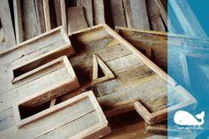 Sonofwhale - original reclaimed wood pallet letters a-z