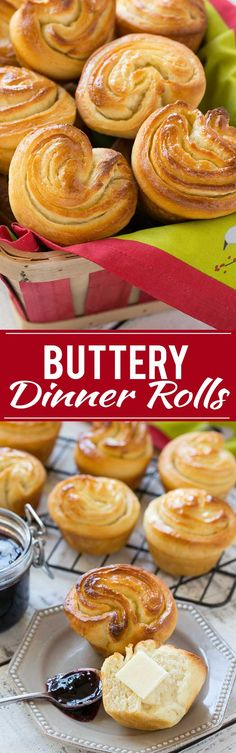 Buttery Dinner Rolls - The lightest, flakiest and fluffiest rolls you'll ever eat!