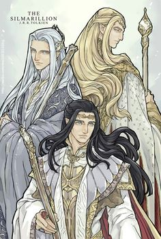 Finwe, Thingol, and Ingwe by ChoiStar #silmarillion #fanart