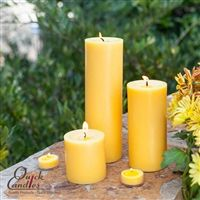 Yellow Pillar Candles - The warm yellow color provides such a lovely look to your surroundings. With the deep colors of fall, add some pops of color in your candle selection. White Candles, Pillar Candles, Red Flowers, Color Pop, Deep, Warm, Yellow, Colors, Pink