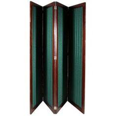 Regency Four Fold Mahogany Room Divider, Privacy Screen