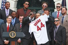 April 1, 2014: Obama honors 2013 World Series champion Red Sox at the White House.