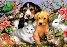 Kitten painting. Chrissie Snelling
