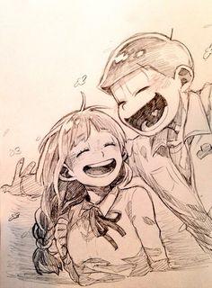 ◖HIATUS◗ Magenesmatsu [¡Imágenes, videos, comics y mucho mas! Me Me Me Anime, Anime Guys, Japanese Games, Kawaii, Ichimatsu, Manga Artist, Ink Art, Beautiful Paintings, Anime Couples