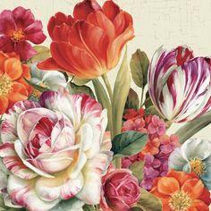 Garden View Tossed - Florals by Lisa Audit art print