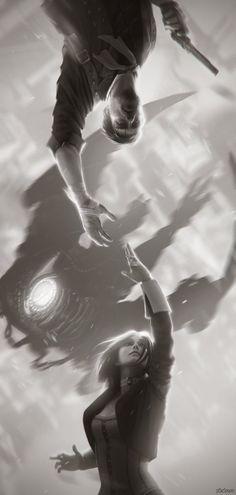 Bioshock Infinite: Booker & Elizabeth Автор: Alex Charleux