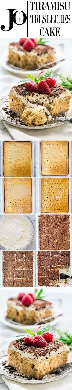 This Tiramisu Tres Leches Cake combines two classics into one incredibly delicious and decadent cake. This elegant Tres Leches Cake espresso spiked, topped with a heavenly mascarpone topping is perfect and truly special. #tiramisu #tresleches via @jocooks
