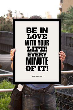 "Inspirational Quote Motivational Print Art Wall Decor ""Jack Kerouac"" Typography Poster Sign Subway Art"