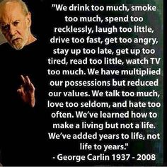 Positive Quotes, Motivational Quotes, Inspirational Quotes, Talk Too Much, George Carlin, Cara Delevingne, How To Do Yoga, To Tell, Quote Of The Day