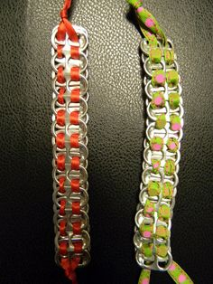 coke tab bracelets, love to make these
