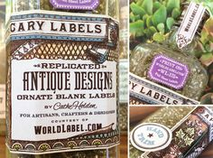 #papercraft #downloads #printables FREE apothecary-labels designed by Cathe Holden