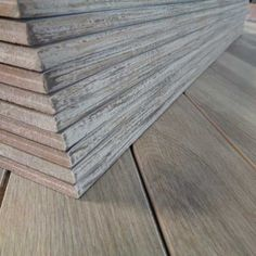 Image of wood look plank tiles with bullnose edge and wood look glazing