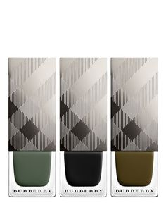 This trio of Burberry nail polish shades are perfectly suited for Autumn/Winter '15.