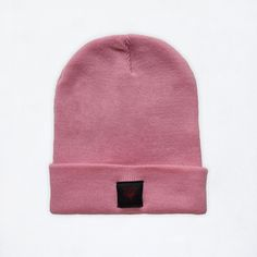 Winter beanie hat Baby Pink color