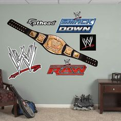 Perfect The WWE Title Belt Wall Decal Provides An Easy Decorating Solution. All Of  Fatheadu0027s WWE Wall Decals Are Reusable Without Damaging Walls. Part 7