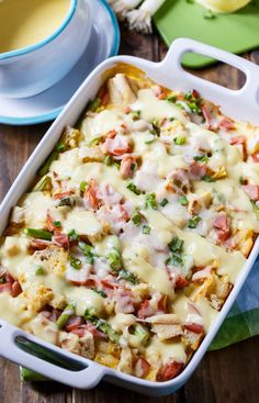 Eggs Benedict Casserole tastes just like Eggs Benedict but is easier to make and feeds a crowd.