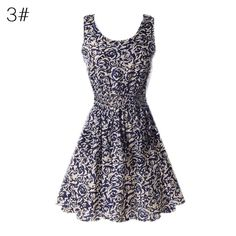 Gender: Women Decoration: None Waistline: Natural Sleeve Style: Regular Pattern Type: Print Style: Cute Material: Cotton,Spandex Season: Summer Dresses Length: Above Knee, Mini Neckline: O-Neck Silhou