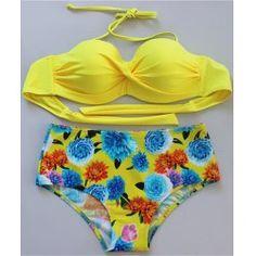 Stylish Halter Floral Push Up Women's Bikini Set from $14.03 by NASTYDRESS