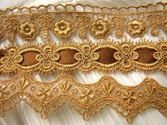 Bold 9yds 3style Gold Venice Lace Quilt Trim Chic Victorian Curtain Lampshade | eBay