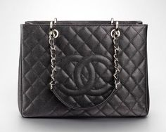 My favorite everyday black purse...Chanel Grand Shopper Tote Black with Silver Hardware